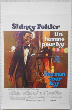 For Love of Ivy, Original Belgian Movie Poster, Sidney Poitier, '68
